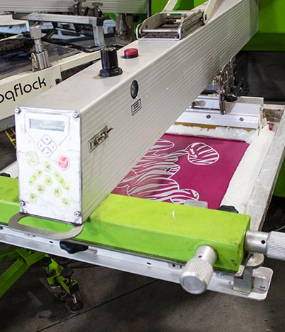 A screen printing machine