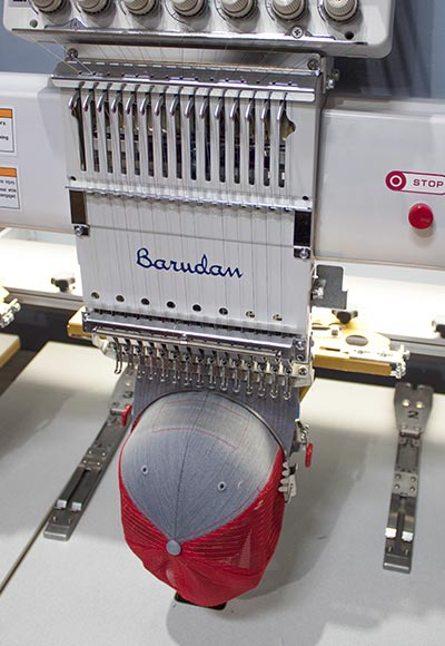 An embroidery machine